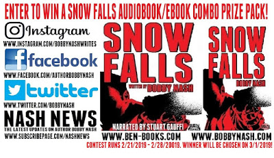 CONTEST TIME! WIN A SNOW FALLS AUDIOBOOK/EBOOK PRIZE PACK! 4 CHANCES TO ENTER!