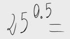 Potencia de exponente un número con decimales 1