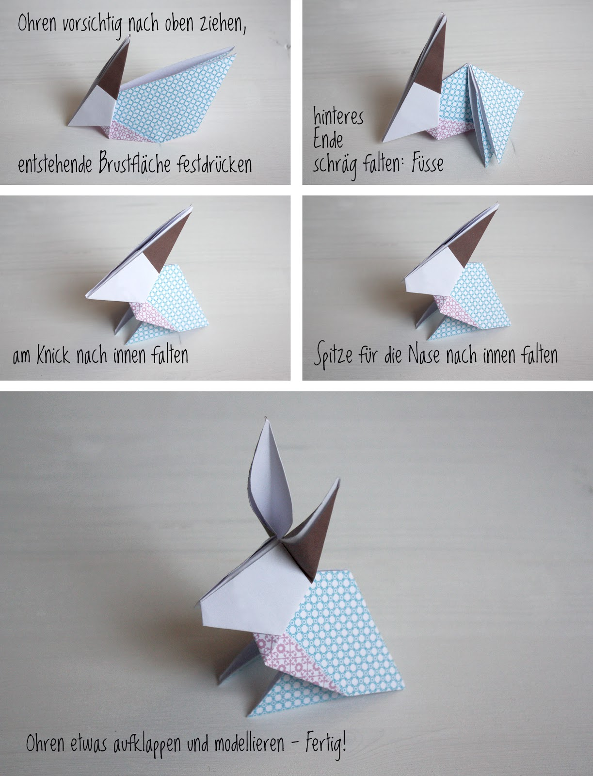 origami osterhase basteln my blog. Black Bedroom Furniture Sets. Home Design Ideas