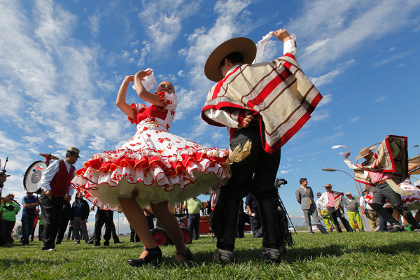"The ""Cueca"", National Dance of Chile."