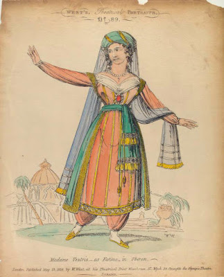 Weber: Oberon - Lucia Elizabeth Vestris as Fatima in an 1826 etching