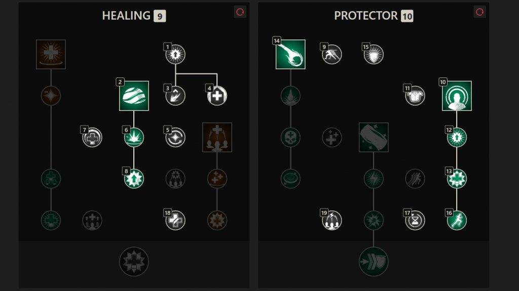 Which skills do I use with the life stick?