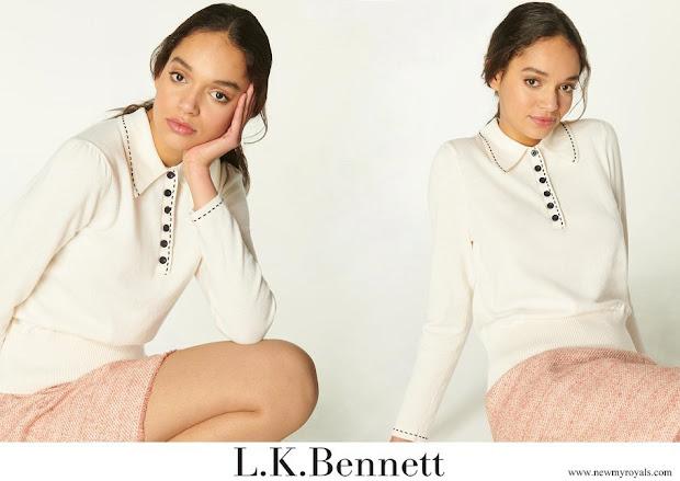 Kate Middleton wore a LK Bennett Liv Cotton Merino Collared jumper