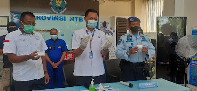 Jumpa Pers ungkap Sabu oleh BNN Provinsi NTB