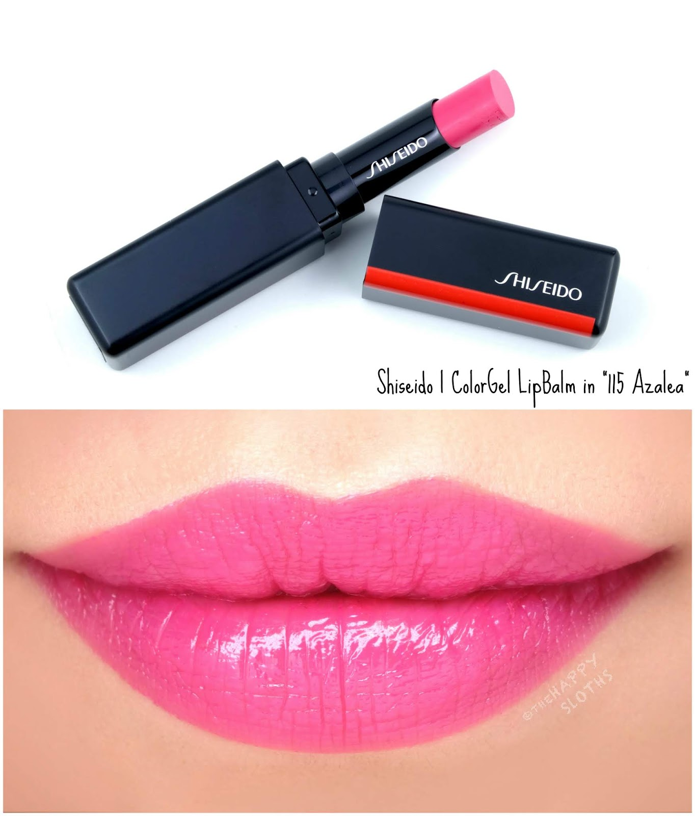 "Shiseido | ColorGel LipBalm in ""115 Azalea"": Review and Swatches"