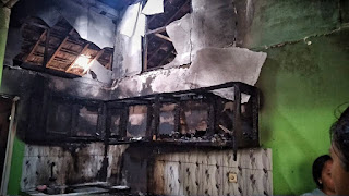 Kompor Gas Belum Mati Sempurna, rumah Warga Tumut Kecamatan Mayong Terbakar