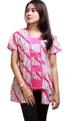 Gaun Batik Modern Untuk Remaja Putri