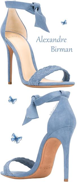 Blue Alexandre Birman blue braided high heel sandal #brilliantluxury