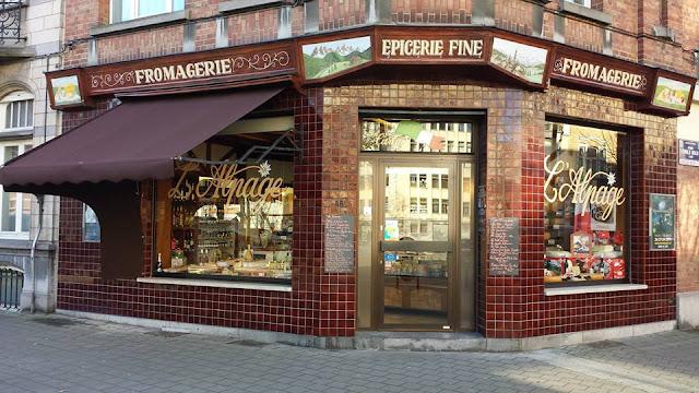 fromagerie l'aplage, schaerbeek, vitrine, la schaerbeekoise