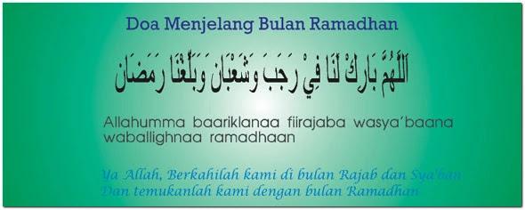 Doa Menjelang Puasa Ramadhan