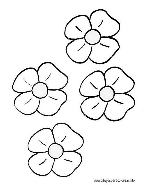PZ C: flores para colorear