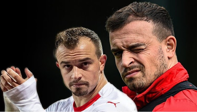 Xherdan Shaqiri planted his hair while he was injured