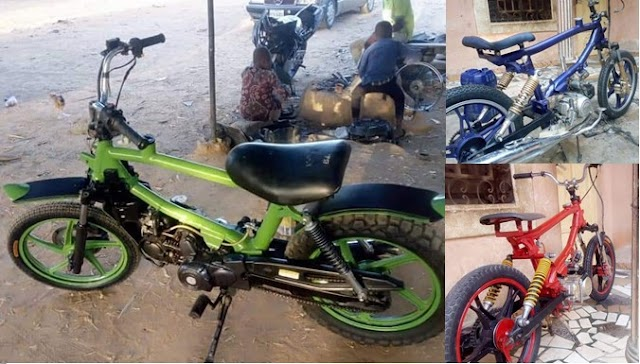 Nigerian man with no formal education impresses many after building motorcycles from scratch