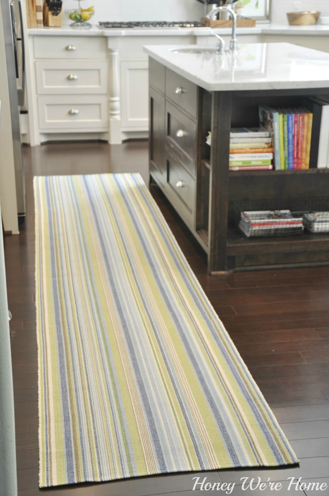 kitchen carpet runner high table set adding color in the honey we 39re home