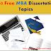 100 Free MBA Dissertation Topics