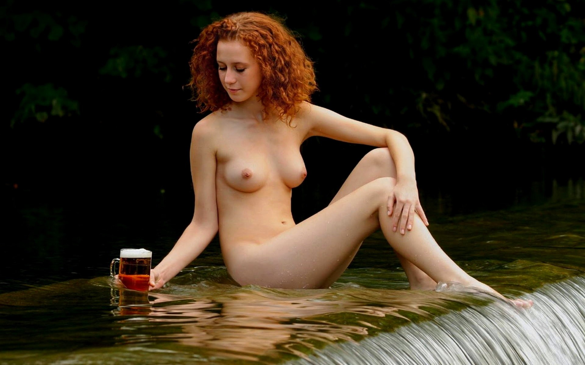 Irish natural naked, nude mud run