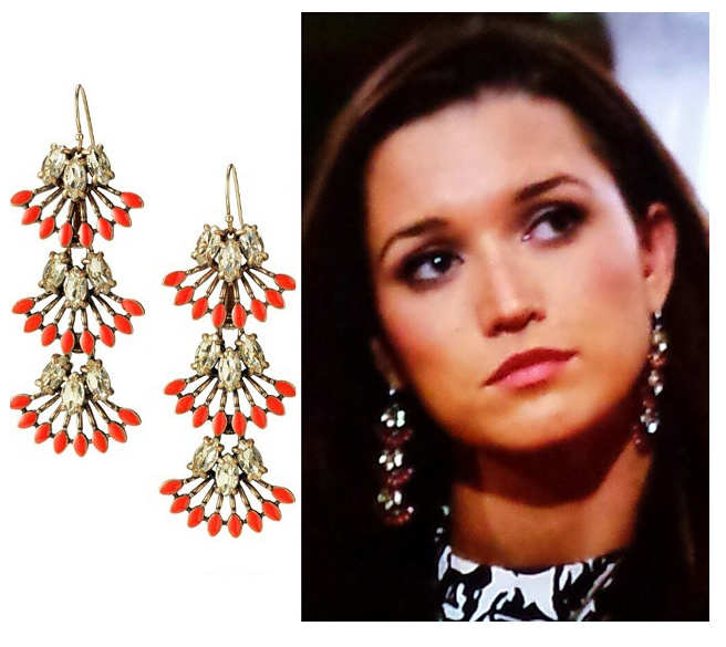 Stella & Dot Coral Cay Earrings on The Bachelor