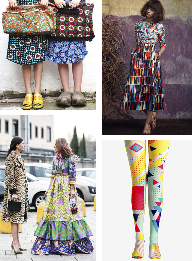 inspired by fashion: pattern & color