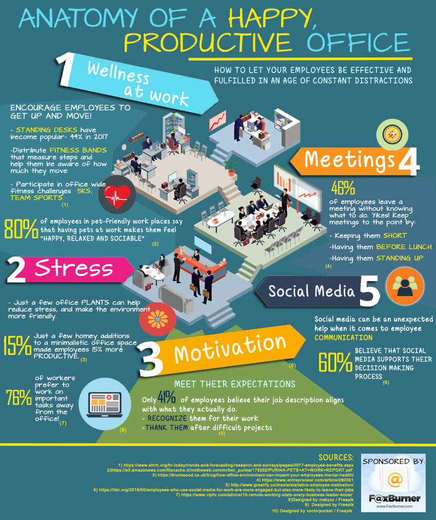 Anatomy of a Happy Office Infographic