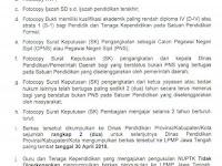 Syarat Pengajuan Berkas NUPTK Provinsi Jawa Tengah