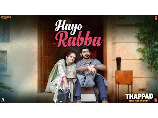 Hayo rabba Lyrics-Thappad