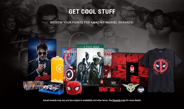 Poster showing rewards of Marvel Insiders