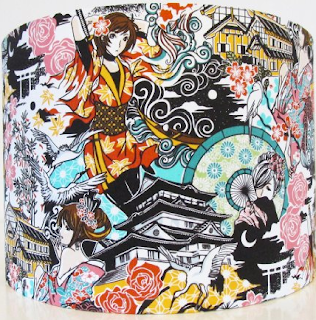 superheroes series, adventure, fantasy, writing, story, cocoa, japanese mulit-colored fabric lampshade