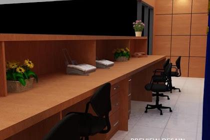 Design interior counter kantor kecamatan