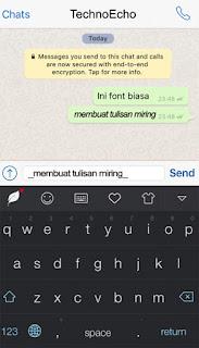 cara menciptakan goresan pena di whatsapp android Cara Membuat Tulisan Whatsapp Menjadi Tebal, Miring Dan Bergaris Di Hp Android
