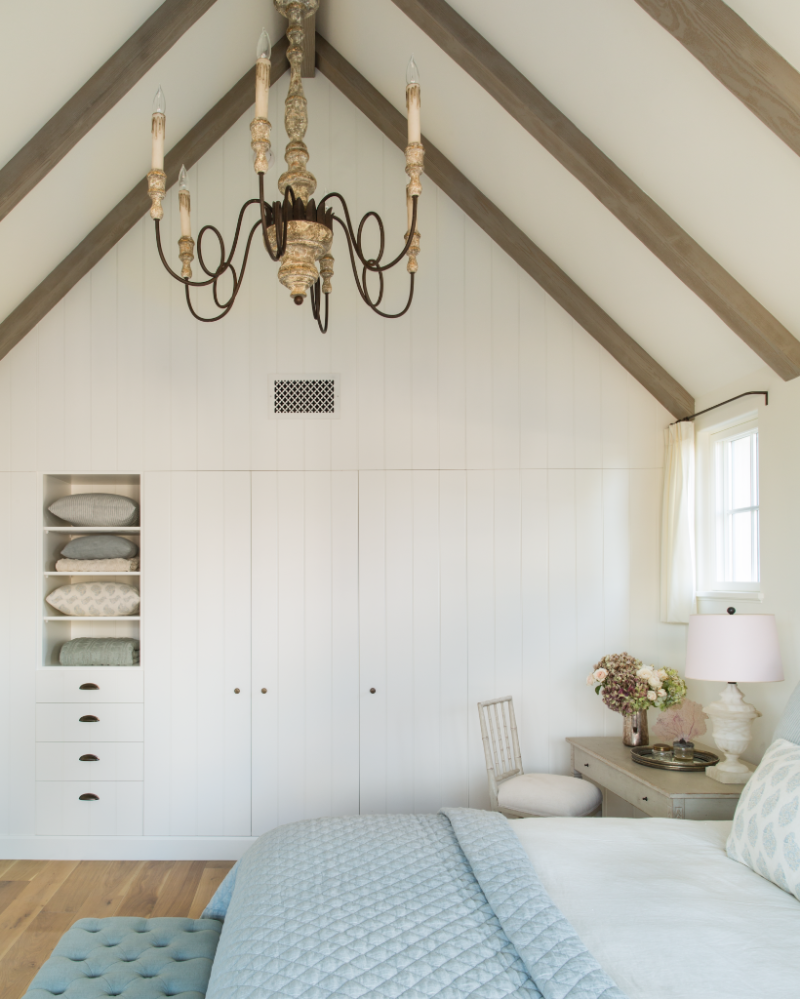 Décor Inspiration: A French Normandy Style Beach House in San Diego by Giannetti Home