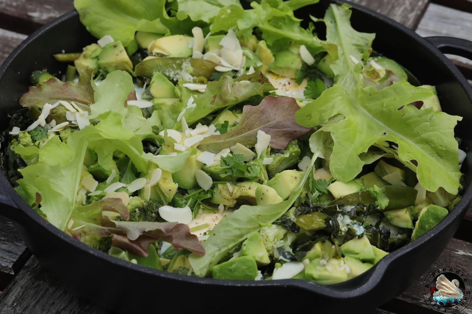 Chakchouka aux légumes verts