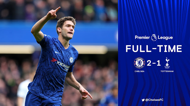 Chelsea 2-1 Tottenham, Olivier Giroud And Marcos Alonso On Target (Details, Photos & Highlight)
