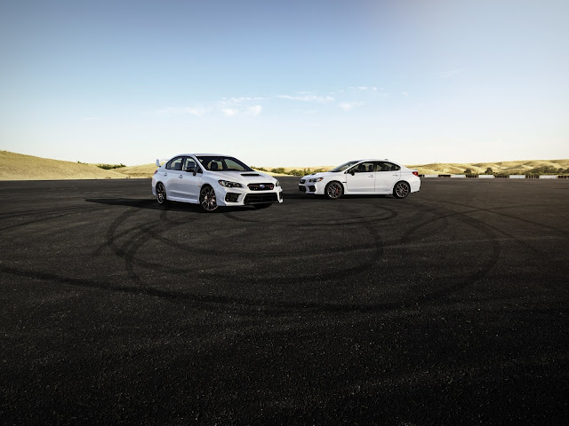 Subaru Unveils Limited-Edition 2020 WRX And WRX STI Series.White At 2019 Los Angeles Auto Show