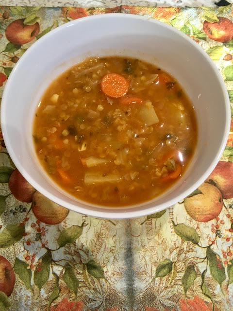 red lentil borsht