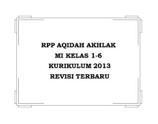 √ RPP Aqidah Akhlak MI K13 Kelas 1-6