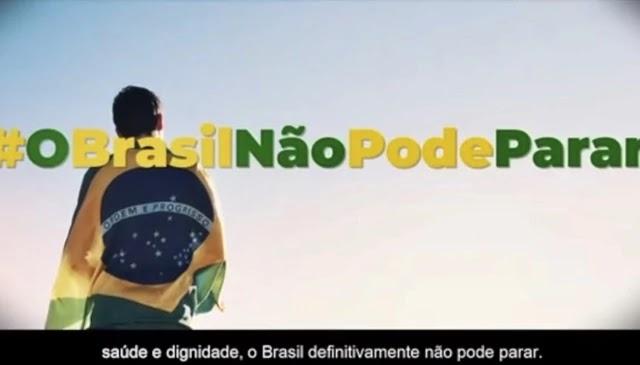 """""""O Brasil não pode parar"""""""