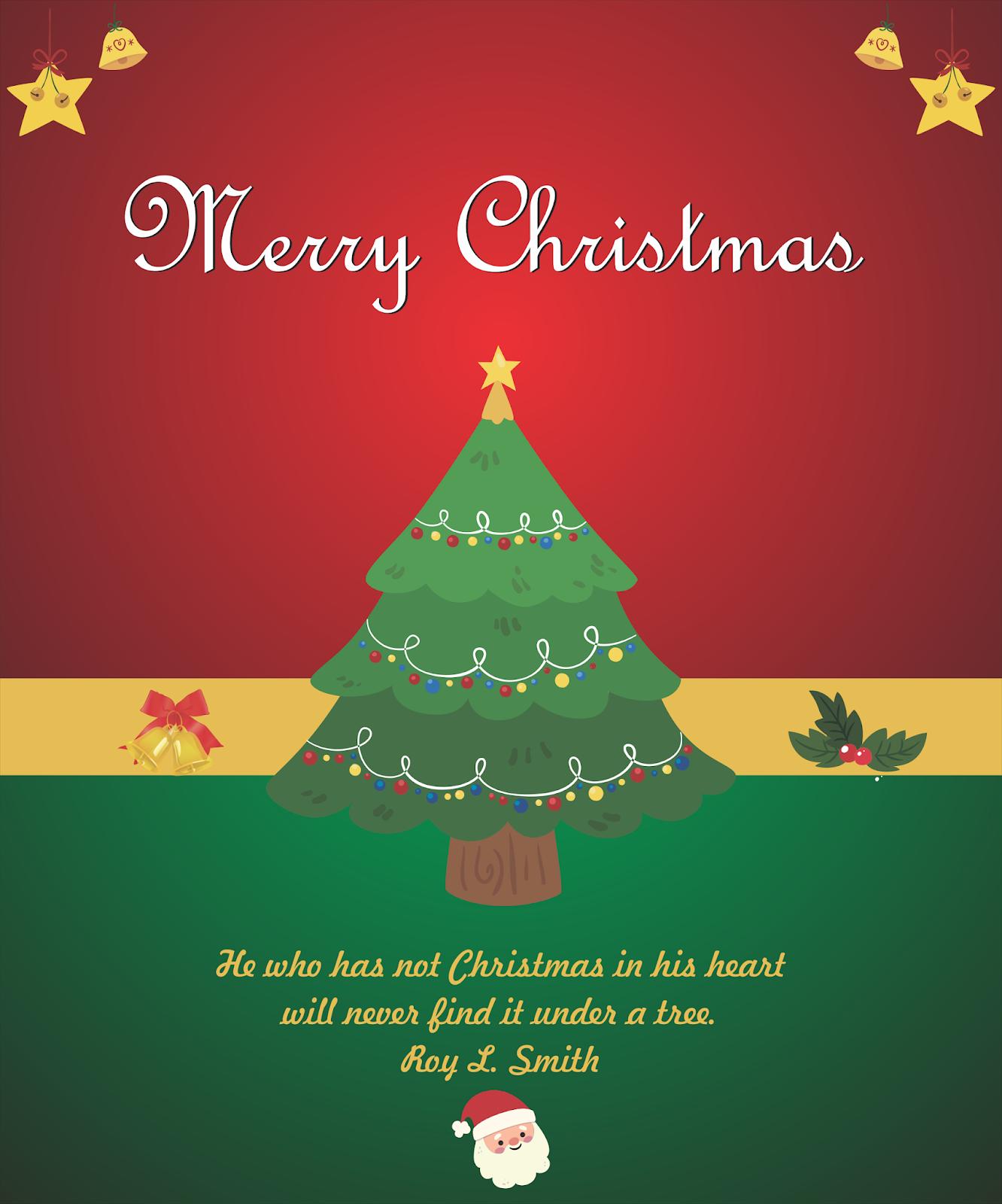 SMP Bunda Mulia: Desain Kartu Ucapan Natal