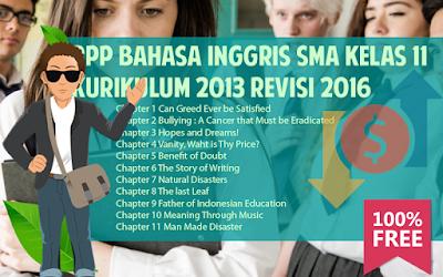 Download RPP Bahasa Inggris SMA Kurikulum 2013 Kelas 11 Revisi 2016