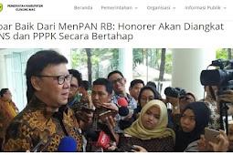 Kabar Baik Dari MenPAN RB: Honorer Akan Diangkat CPNS dan PPPK Secara Bertahap