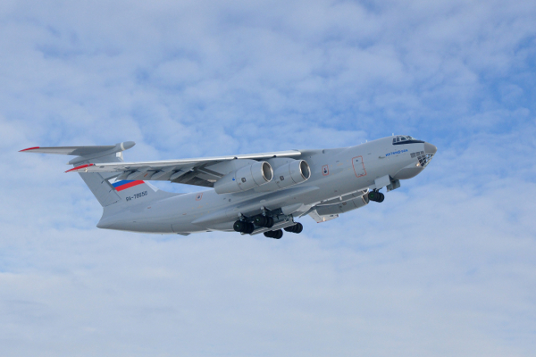 Ilyushin Il-76MD-90A During First Flight Debut