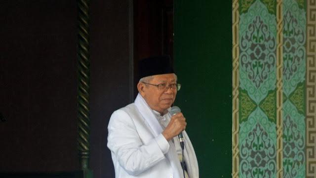 Komentar Ma'ruf Amin Soal Sikap Sandiaga Langkahi Makam Pendiri NU