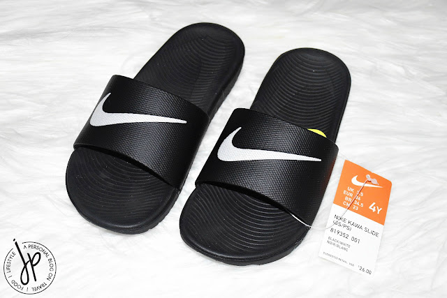 black nike slides, slippers