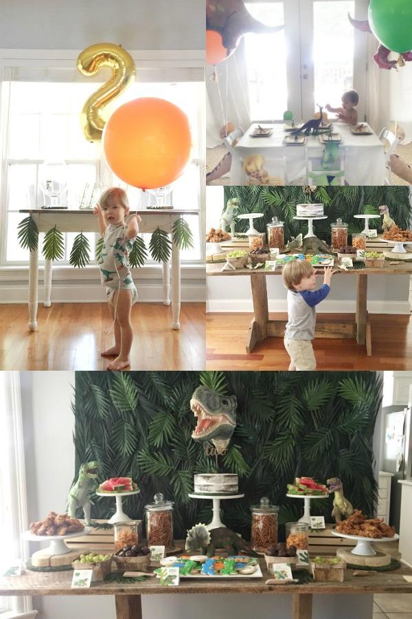 Boy, dinosaur themed birthday party theme ideas.