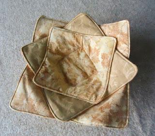 Nestled fabric bowls