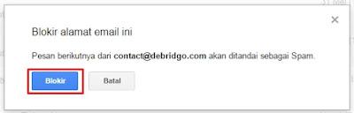 CAra memblokir alamat email pada gmail terbaru