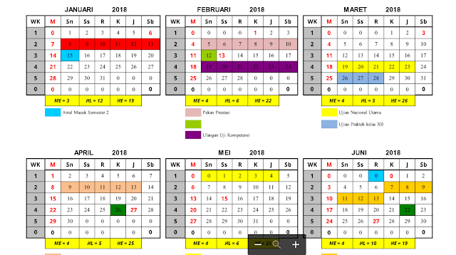 Aplikasi Kalender Pendidikan Flus Data Hari Efektif