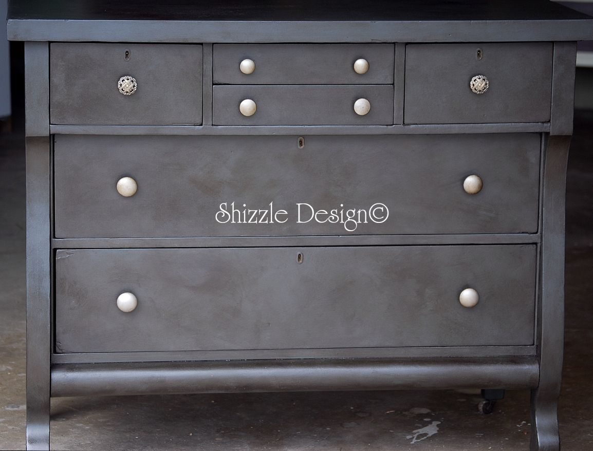 Well-liked Shizzle Design | Antique Empire Dresser with a Rich Weathered  OU14