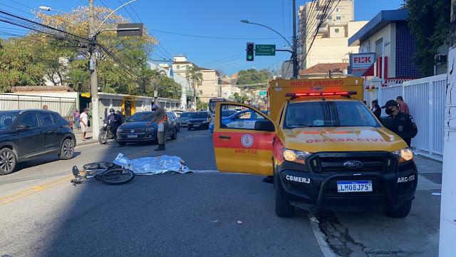 Ciclista Carlos Eduardo Gomes Sampaio morreu atropelado no Rio - Foto: Tatiana Campbell / Super Rádio Tupi