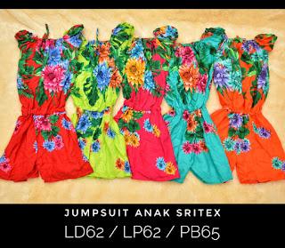 Jumpsuit Anak Sritex (motif Bunga) - Daster Murah Solo