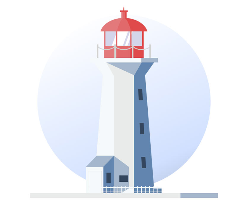 Lighthouse CSS Design Paintings